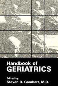 Book Handbook of Geriatrics by Steven R. GaA01ert