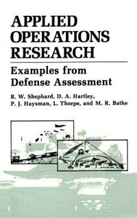 Book Applied Operations Research by M.R. Bathe
