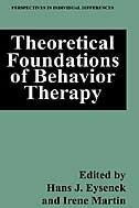 Book Theoretical Foundations of Behavior Therapy by Hans J. Eysenck