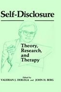 Book Self-Disclosure: Theory, Research, and Therapy by Valerian J. Derlaga