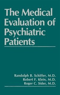 Book The Medical Evaluation of Psychiatric Patients by R.F. Klein