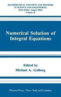 Book Numerical Solution of Integral Equations by Michael A. Golberg