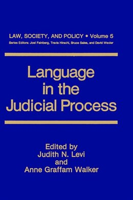 Book Language in the Judicial Process by Judith N. Levi