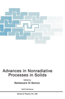 Book Advances in Nonradiative Processes in Solids by Baldassare di Bartolo