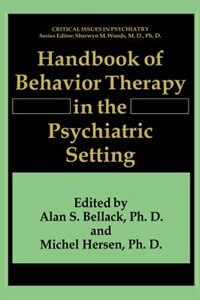 Book Handbook of Behavior Therapy in the Psychiatric Setting by Alan S. Bellack
