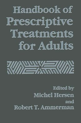 Book Handbook of Prescriptive Treatments for Adults by Robert Ammerman