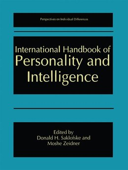 Book International Handbook of Personality and Intelligence by Donald H. Saklofske