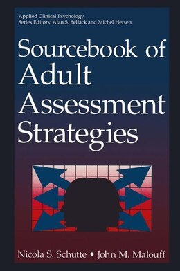 Book Sourcebook of Adult Assessment Strategies by Nicola S. Schutte
