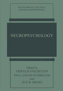 Book Neuropsychology by Gerald Goldstein