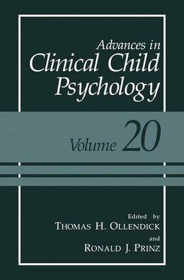 Book Advances in Clinical Child Psychology: Volume 20 by Thomas H. Ollendick