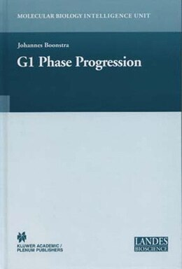 Book Regulation Of G1 Phase Progression by Johannes Boonstra