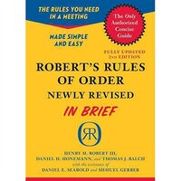 Book Robert's Rules of Order Newly Revised In Brief, 2nd edition by Henry M. III Robert