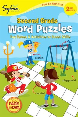 Book Second Grade Word Puzzles (sylvan Fun On The Run Series) by Sylvan Learning