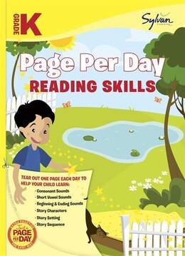 Book Kindergarten Page Per Day: Reading Skills by Sylvan Learning