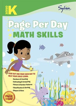 Book Kindergarten Page Per Day: Math Skills by Sylvan Learning