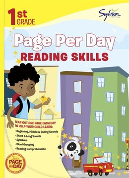 Book First Grade Page Per Day: Reading Skills by Sylvan Learning