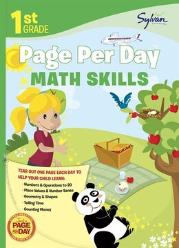 Book First Grade Page Per Day: Math Skills by Sylvan Learning