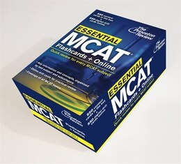 Book Essential Mcat: Flashcards + Online: Quick Review For Every Mcat Subject by Princeton Review