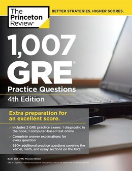 Book 1,007 Gre Practice Questions, 4th Edition by Princeton Review