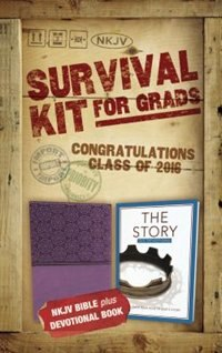 Book 2016 Survival Kit for Grads, NKJV: NKJV Bible plus Devotional Book, The Story Devotional by Zondervan