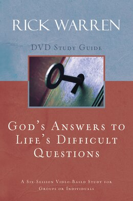 Book God's Answers to Life's Difficult Questions Study Guide by Rick Warren