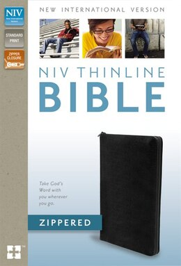 Book NIV, Thinline Bible Zippered, Bonded Leather, Black by Zondervan