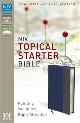 Book Niv, Topical Starter Bible, Imitation Leather, Blue/gray by Zondervan