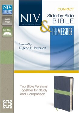 Book NIV, The Message, Side-by-Side Bible, Compact, Imitation Leather, Blue/Green: Two Bible Versions… by Zondervan