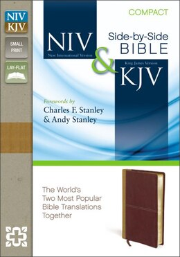 Book Niv, Kjv, Side-by-side, Compact, Imitation Leather, Tan/red: God's Unchanging Word Across the… by Zondervan