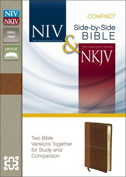 Book Niv, Nkjv, Side-by-side Bible, Compact, Imitation Leather, Tan/brown: Two Bible Versions Together… by Zondervan
