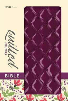 Book NIV, Quilted Collection Bible, Imitation Leather, Purple, Red Letter Edition: Plum Italian Duo-tone by Zondervan