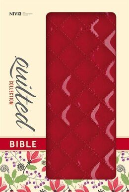 Book NIV, Quilted Collection Bible, Imitation Leather, Red, Red Letter Edition: Cherry Italian Duo-tone by Zondervan