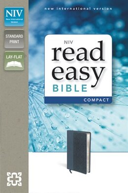 Book Niv, Readeasy Bible, Compact, Imitation Leather, Blue, Red Letter Edition by Zondervan