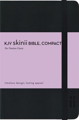 Book KJV, Skinii Bible, Compact, Imitation Leather, Black, Red Letter Edition by Zondervan