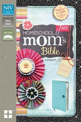 Book Niv, Homeschool Mom's Bible, Compact, Imitation Leather, Blue: Daily Personal Encouragement by Zondervan