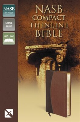 Book Nasb, Thinline Bible, Compact, Imitation Leather, Brown, Red Letter Edition by Zondervan