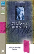 NIV, Streams in the Desert Bible, Imitation Leather, Pink: 365 Thirst-Quenching Devotions