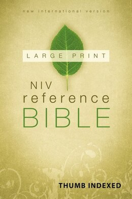 Book Niv, Reference Bible, Large Print, Hardcover, Indexed by Zondervan