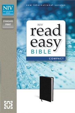 Book Niv, Readeasy Bible, Compact, Imitation Leather, Black, Red Letter Edition by Zondervan