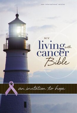 Book NIV, Living With Cancer Bible, Imitation Leather, Navy/Brown: An Invitation to Hope by Zondervan
