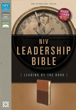 Book Niv, Leadership Bible, Imitation Leather, Tan/brown: Leading by The Book by Zondervan