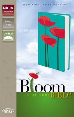 Book NKJV, Bloom Collection Bible, Compact, Imitation Leather, Red/Turquoise, Red Letter Edition by Zondervan