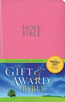 Book Niv, Gift And Award Bible, Leather-look, Pink, Red Letter Edition by Zondervan