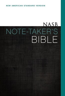Book Nasb, Note-taker's Bible, Hardcover, Red Letter Edition by Zondervan