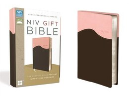 Book Niv, Gift Bible, Imitation Leather, Pink/brown, Red Letter Edition by Zondervan