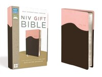 Niv, Gift Bible, Imitation Leather, Pink/brown, Red Letter Edition