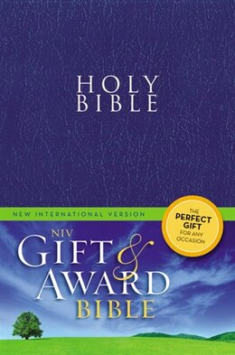 Book Niv, Gift And Award Bible, Leather-look, Blue, Red Letter Edition by Zondervan
