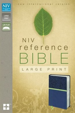 Book Niv, Reference Bible, Large Print, Imitation Leather, Blue/green by Zondervan