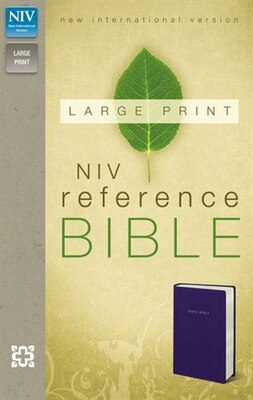 Book Niv, Reference Bible, Large Print, Imitation Leather, Blue, Red Letter Edition by Zondervan