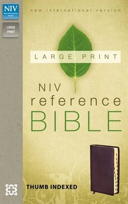 Book Niv, Reference Bible, Large Print, Bonded Leather, Burgundy, Indexed, Red Letter Edition by Zondervan